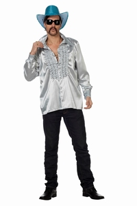 Rucheblouse zilver