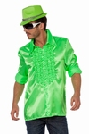 Rucheblouse neon groen